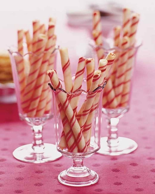 Candy Striped Stick Cookies