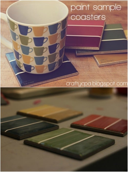 DIY Paint Sample Coasters