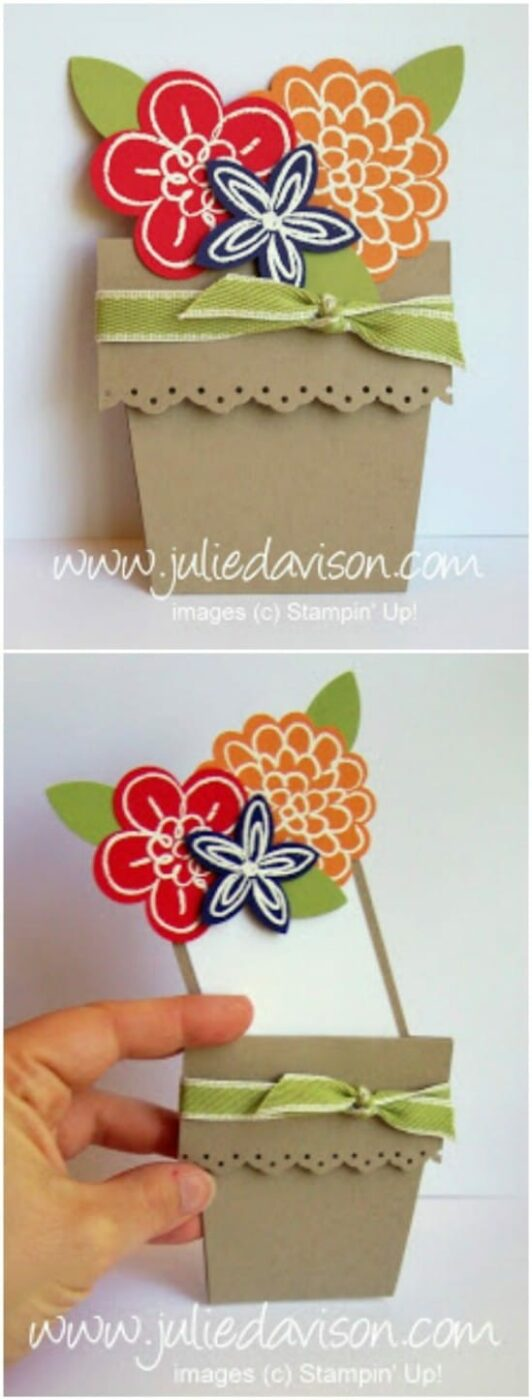 Easy DIY Flower Pot Card