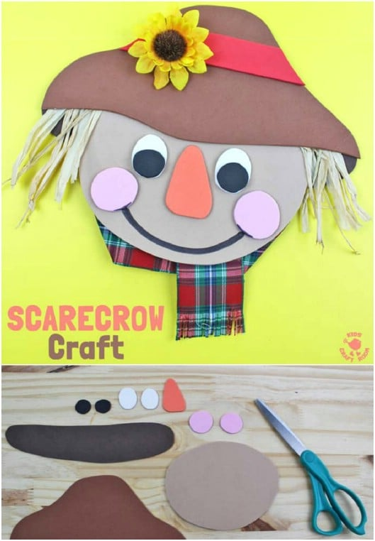 DIY Foam Scarecrow Craft For Kids