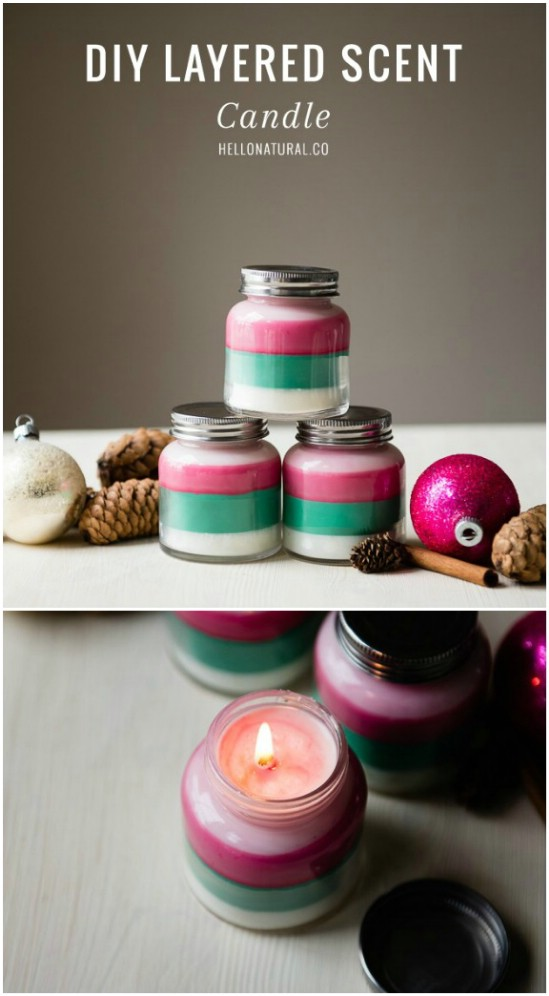 Homemade Holiday Multi-Scented Candles