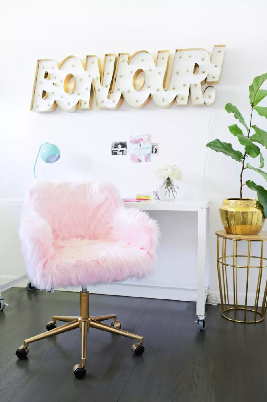 DIY Faux Fur Chair Makeover