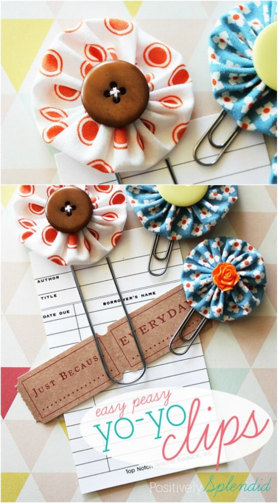 Adorable Easy To Sew Yo-Yo Clips