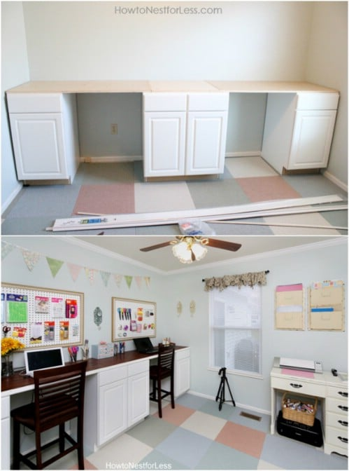 Cheap And Easy DIY Craft Desk