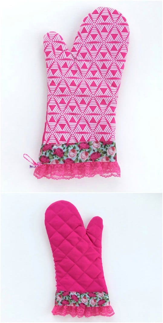 Homemade Designer Oven Mitts