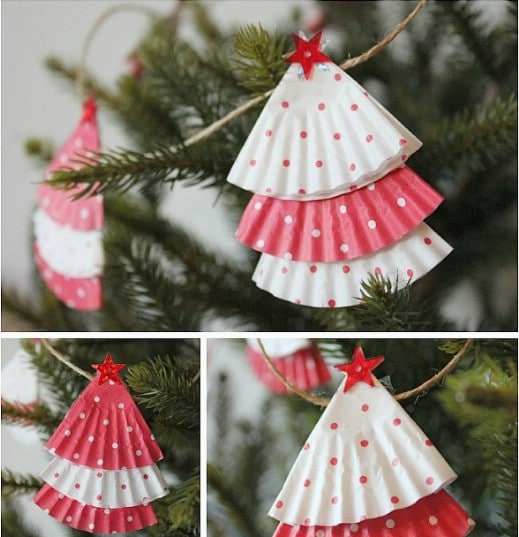 DIY Cupcake Wrapper Christmas Garland