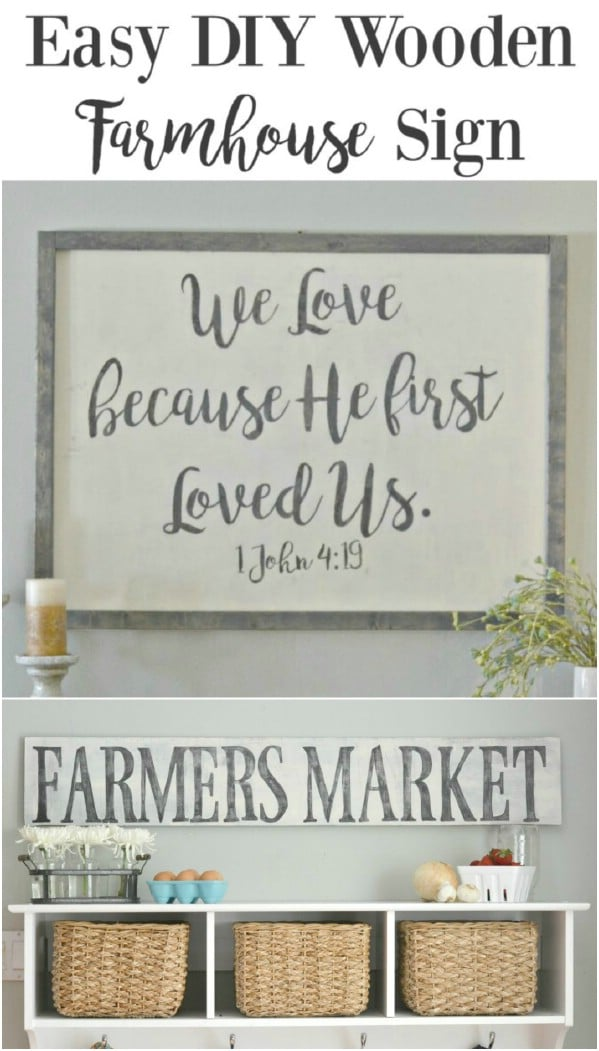 DIY Rustic Farmhouse Sign