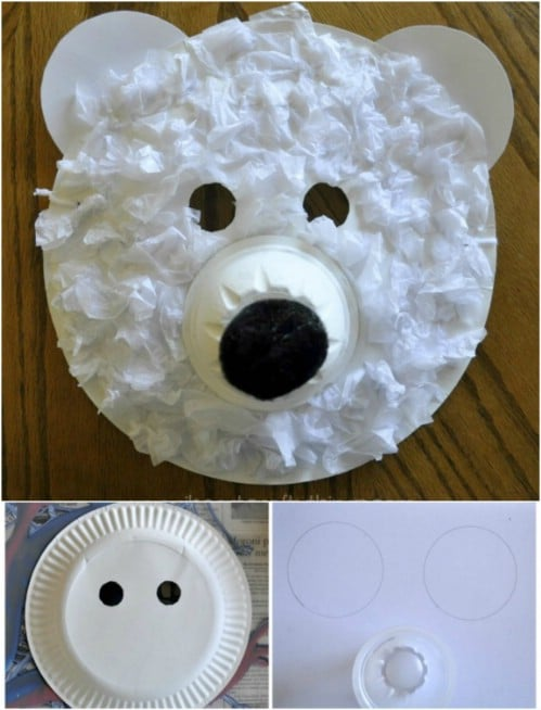 Cute Polar Bear Mask Craft