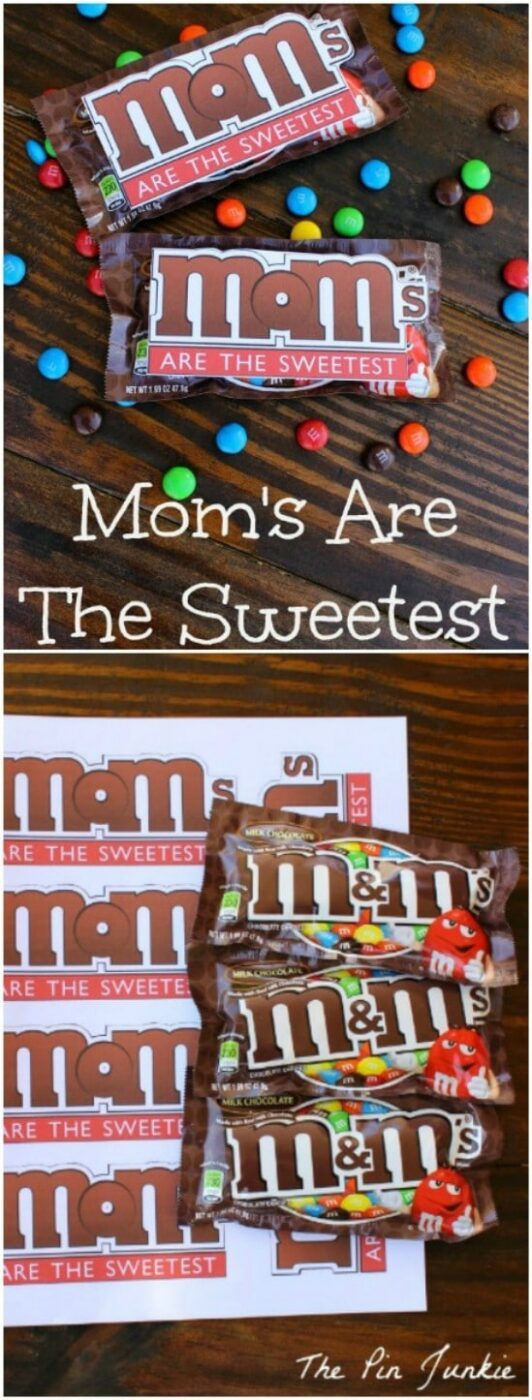 Cute M&Ms Printable Cards