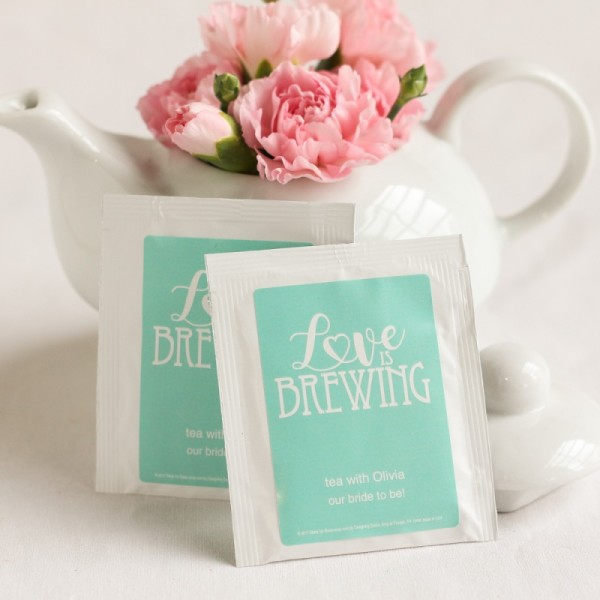 7.Personalized Wedding Tea Bag Favors