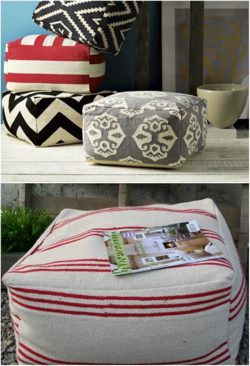 IKEA Hack Floor Pouf