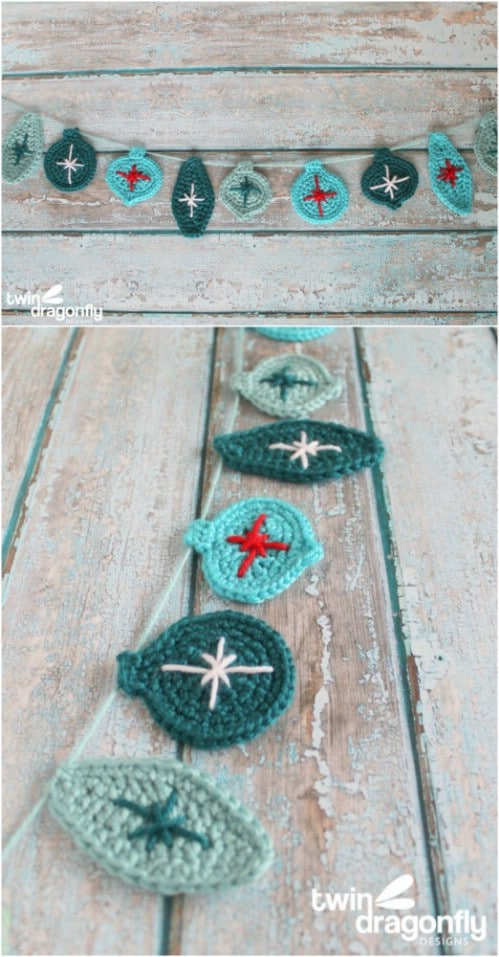 Crochet Ornament Garland