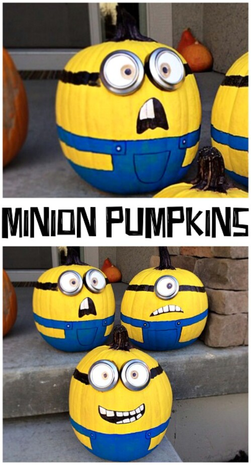8. Minion Pumpkins