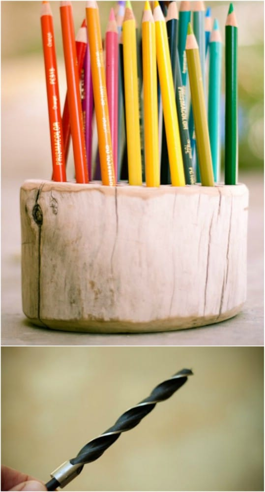 Upcycle Branch Colored Pencil Holder