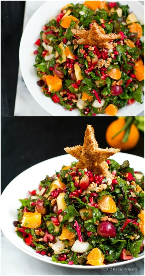 Pomegranate, Pecan and Chard Salad