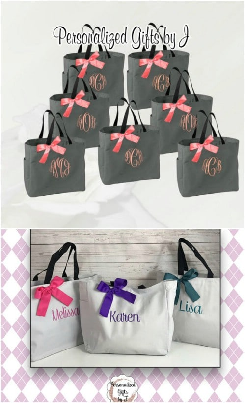Personalized Bridesmaids Totes