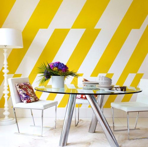 Image result for yellow striped walls