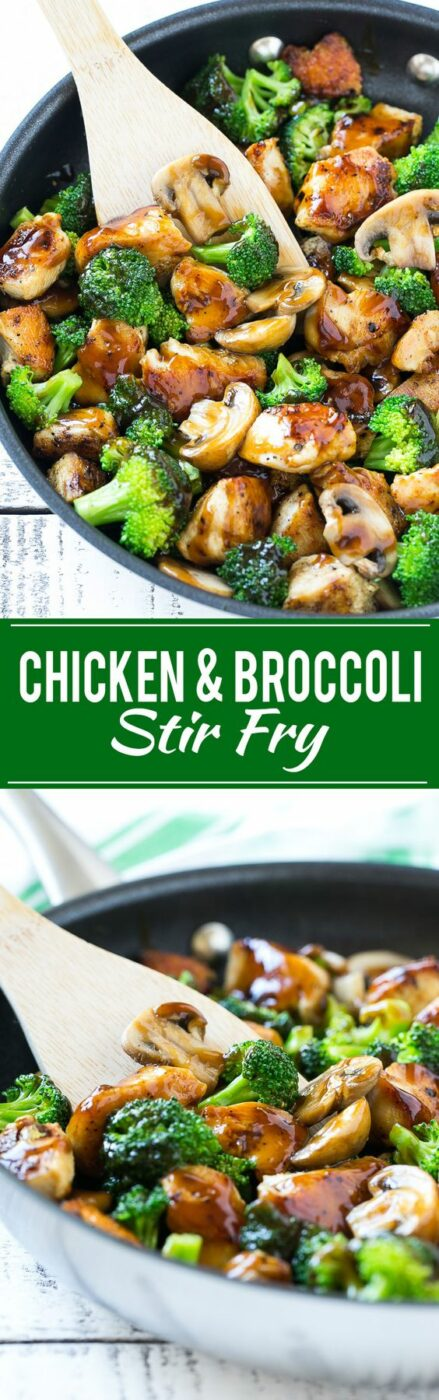 30 Minute Chicken and Broccoli Stir Fry Recipe via Dinner at the Zoo - This recipe for chicken and broccoli stir fry is a classic dish of chicken sauteed with fresh broccoli florets and coated in a savory sauce. You can have a healthy and easy dinner on the table in 30 minutes! - The BEST 30 Minute Meals Recipes - Easy, Quick and Delicious Family Friendly Lunch and Dinner Ideas #30minutemeals #30minutedinners #thirtyminutedinners #30minuterecipes #fastrecipes #easyrecipes #quickrecipes #mealprep