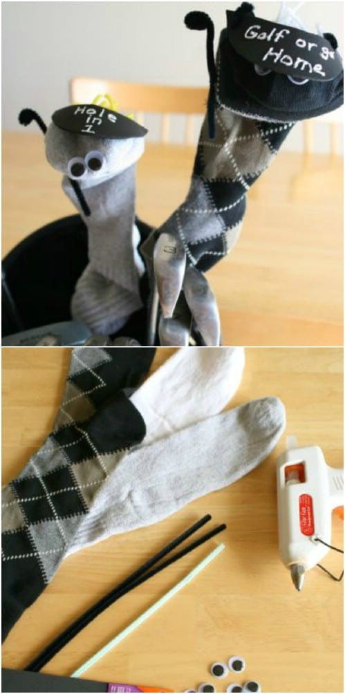 Adorable DIY Sock Puppet Golf Club Covers