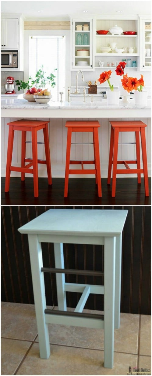 Trendy Furniture: 14 DIY Bar Stool Ideas