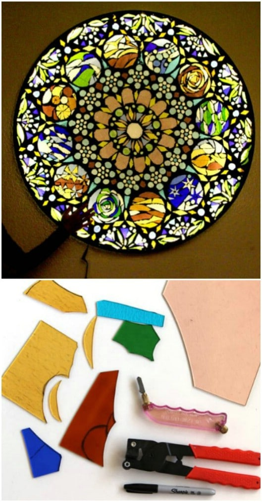 DIY Stained Glass Mosaic Porch Light