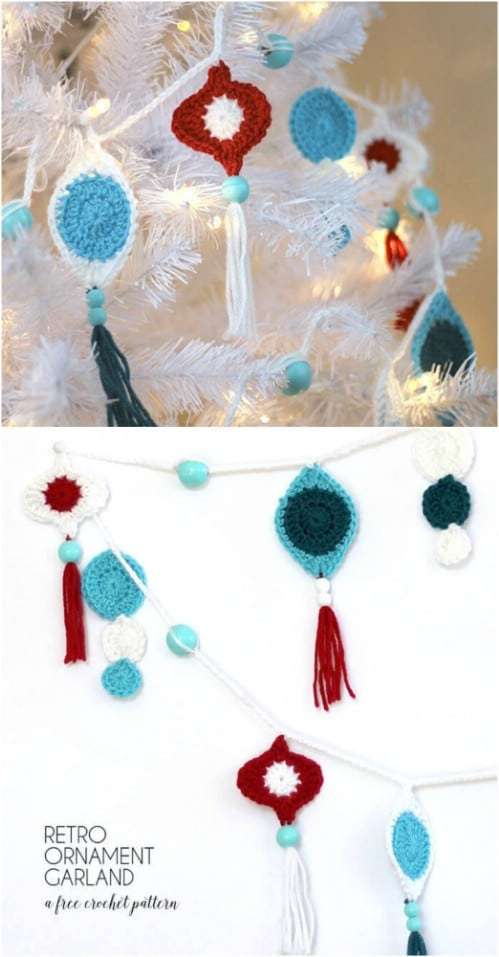 Crochet Retro Tassel Ornament Garland