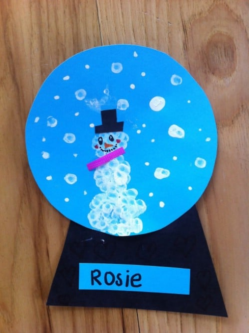 Easy Snow Globe Craft