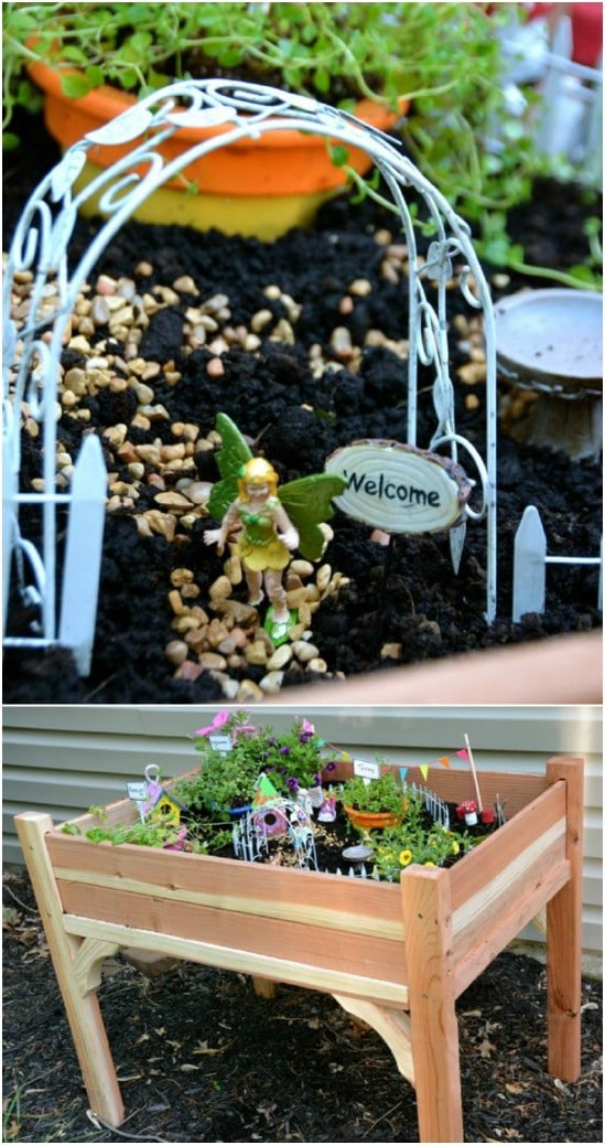 DIY Fairy Garden Table