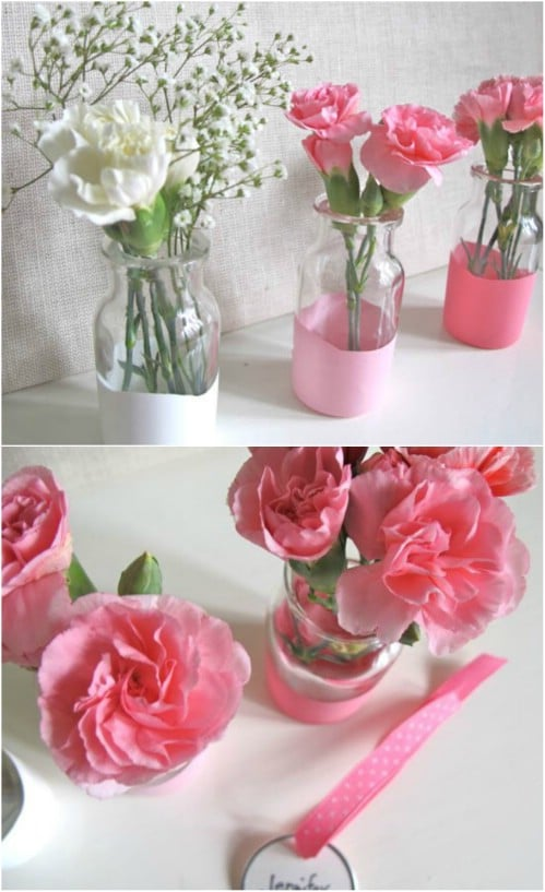 Simple And Cheap Dipped Vases