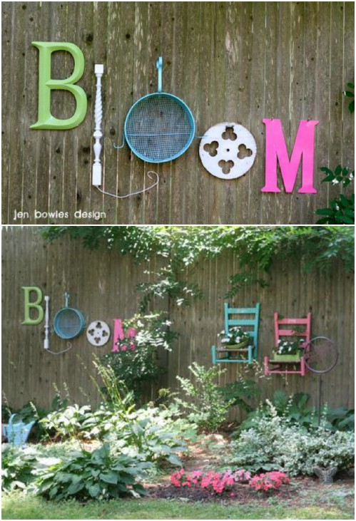 Upcycled Junk Garden Fence