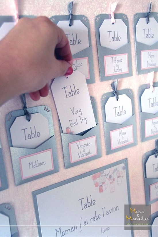 15 Insanely Creative Escort Cards and Seating Displays