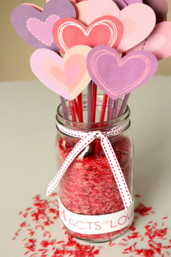 Acts of Love Jar | 25+ Valentine Crafts for Kids