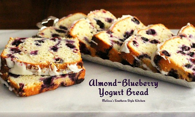 Almond Blueberry Yogurt Bread | 25+ Quick Bread Recipes (No Yeast Required)