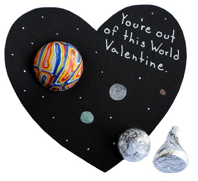 An out of this world Valentine - 25+ Creative Classroom Valentines - NoBiggie.net