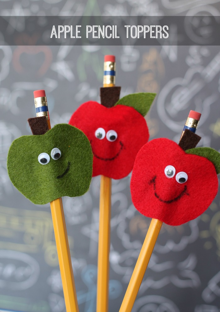 Apple pencil toppers - 25+apple projects and kids crafts - NoBiggie.net