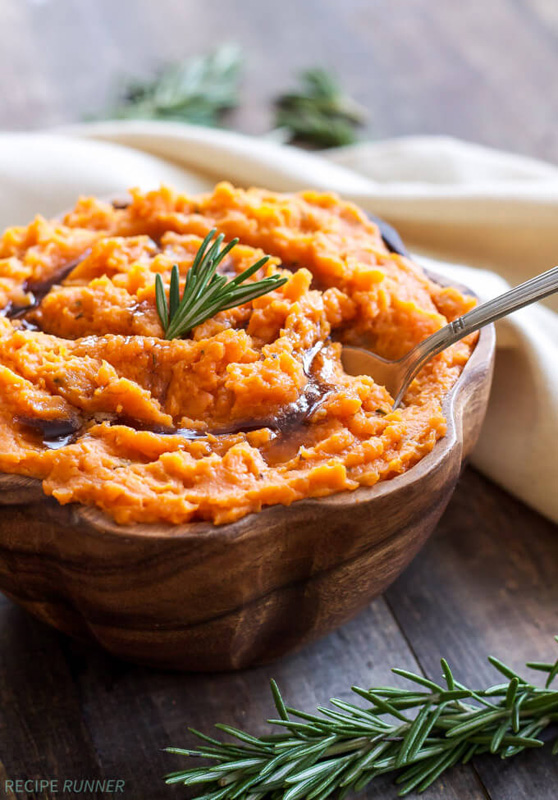 Brown Butter Rosemary Mashed Sweet Potatoes   25+ Browned Butter Recipes