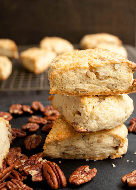 Brown Sugar Butter Pecan Scones | 25+ Pecan Recipes