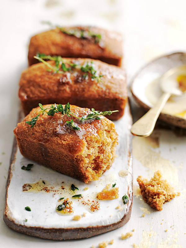 Browned Butter Honey Lemon Thyme Cakes   25+ Browned Butter Recipes