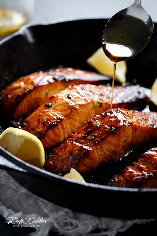 Browned Butter Honey Garlic Salmon   25+ Browned Butter Recipes
