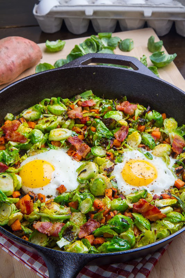 Brussels Sprout and Sweet Potato Hash | 25+ Brussels Sprout Recipes