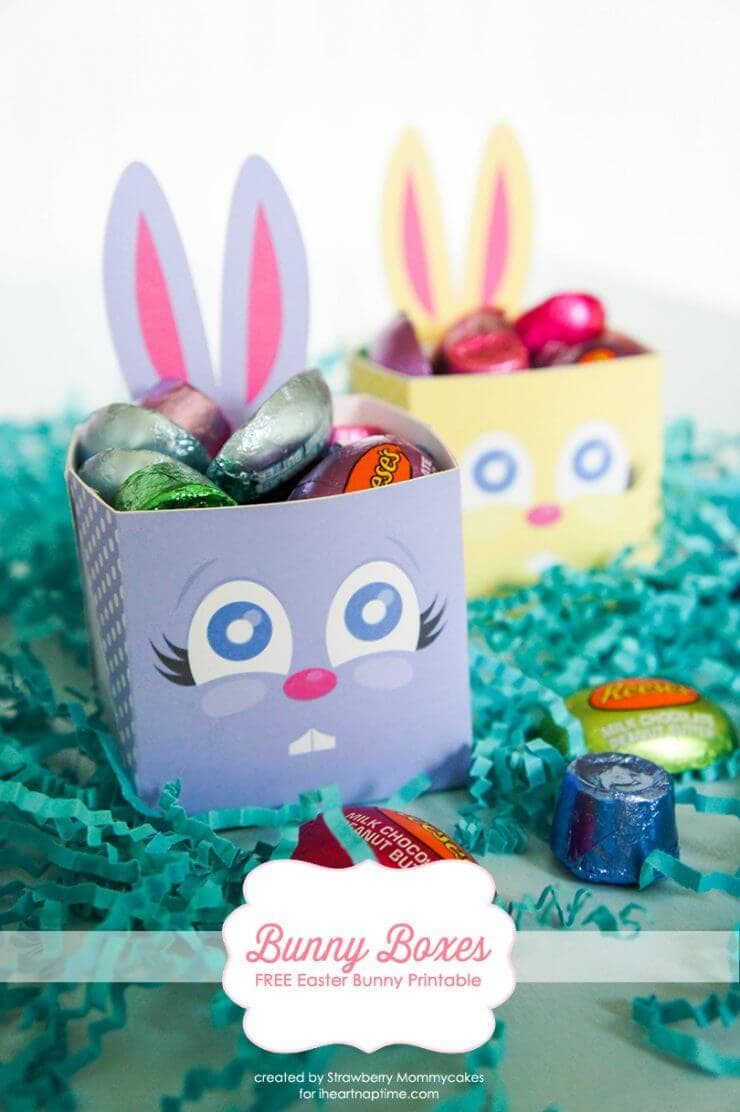 bunny boxes + 25 Easter Crafts for Kids - Fun-filled Easter activities for you and your child to do together!
