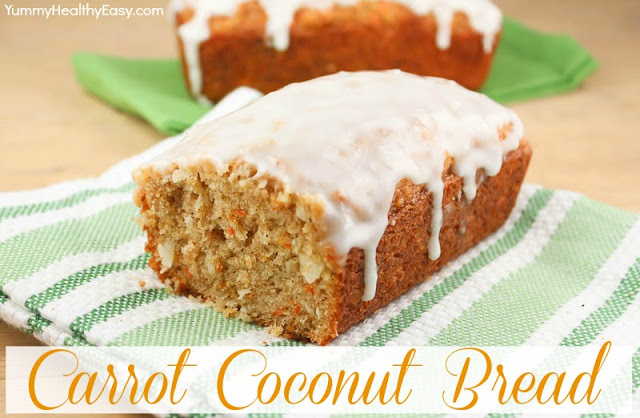 Carrot Coconut Bread with Cream Cheese Icing | 25+ Quick Bread Recipes (No Yeast Required)