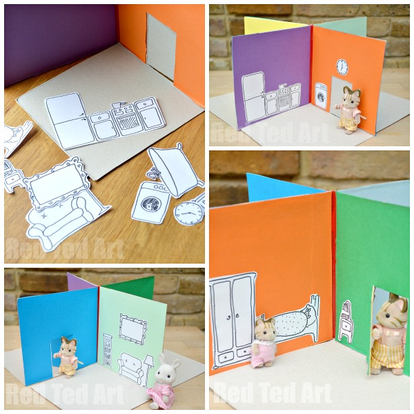 Cereal Box to Foldable Doll's House DIY