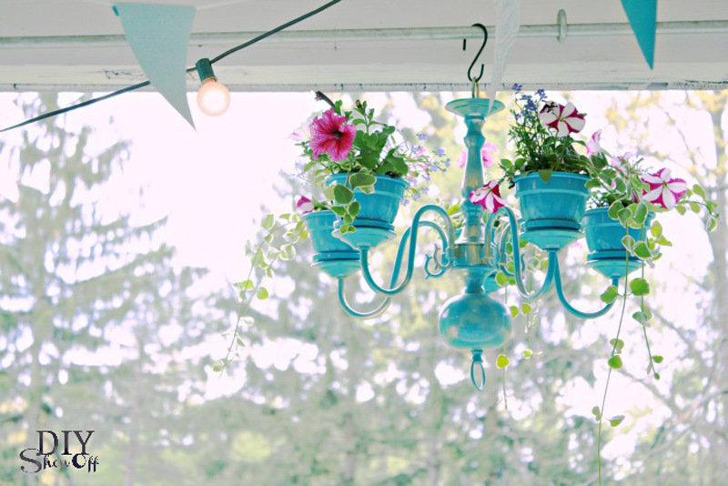 Chandelier planter | 25+ May Day ideas