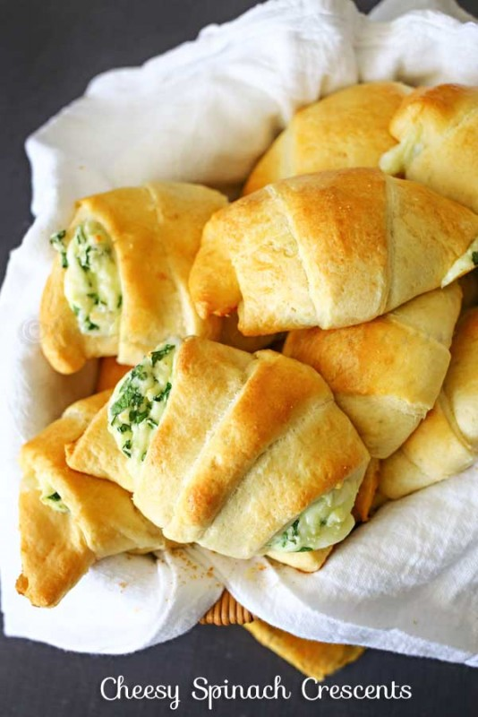Cheesy Spinach Crescents | 25+ Spinach Recipes