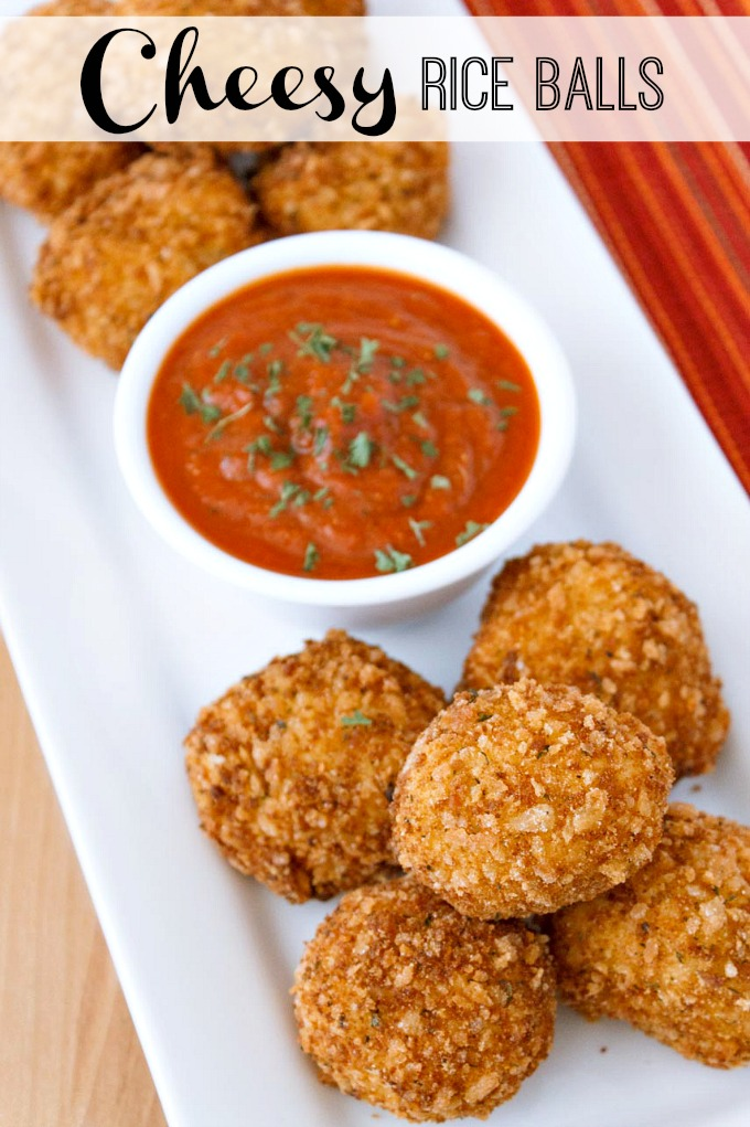 Cheesy rice balls | 25+ Cheesy Appetizers and Dips