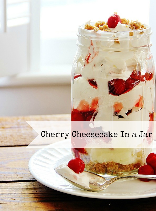 Cherry Cheesecake in a Jar | 25+ Cherry Recipes