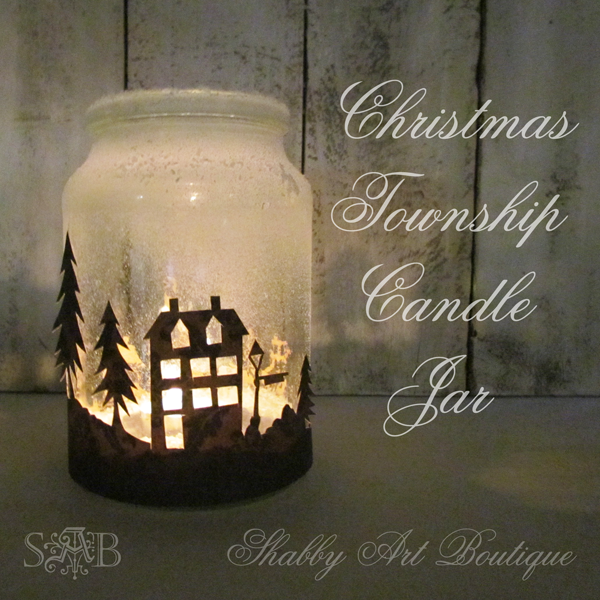 Christmas Township Candle Jar | 25+ easy DIY Christmas decor
