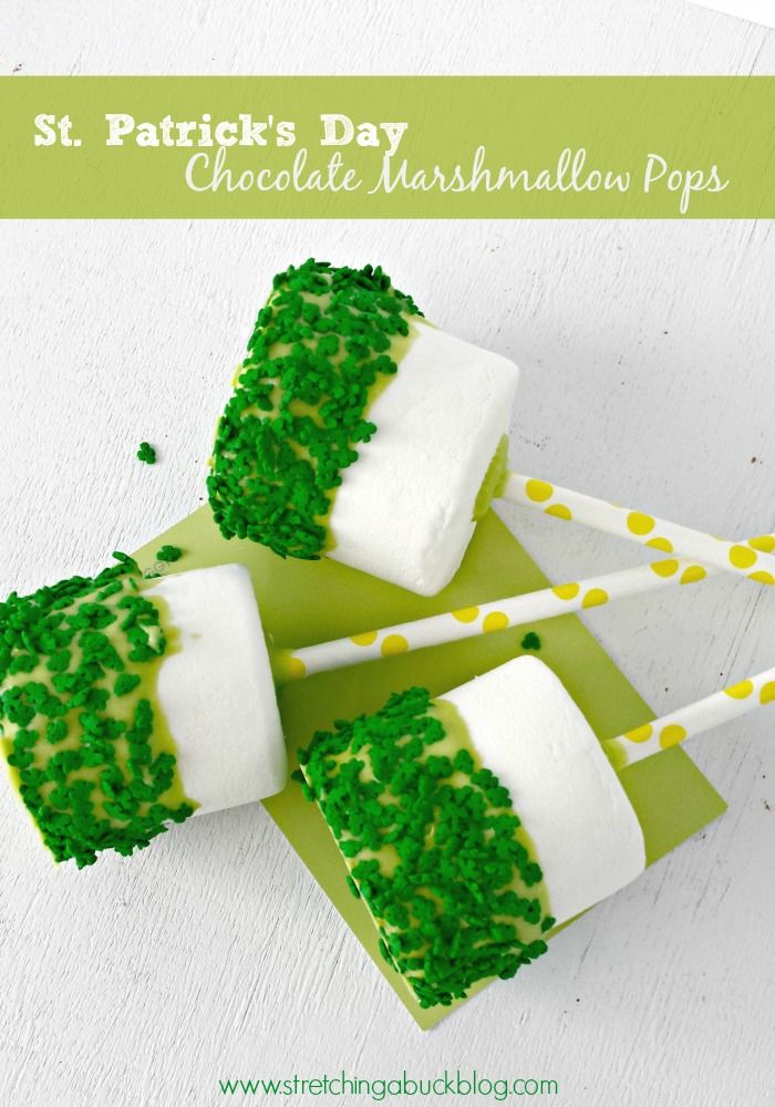 Chocolate Marshmallow Pops | 25+ St. Patrick's Day ideas
