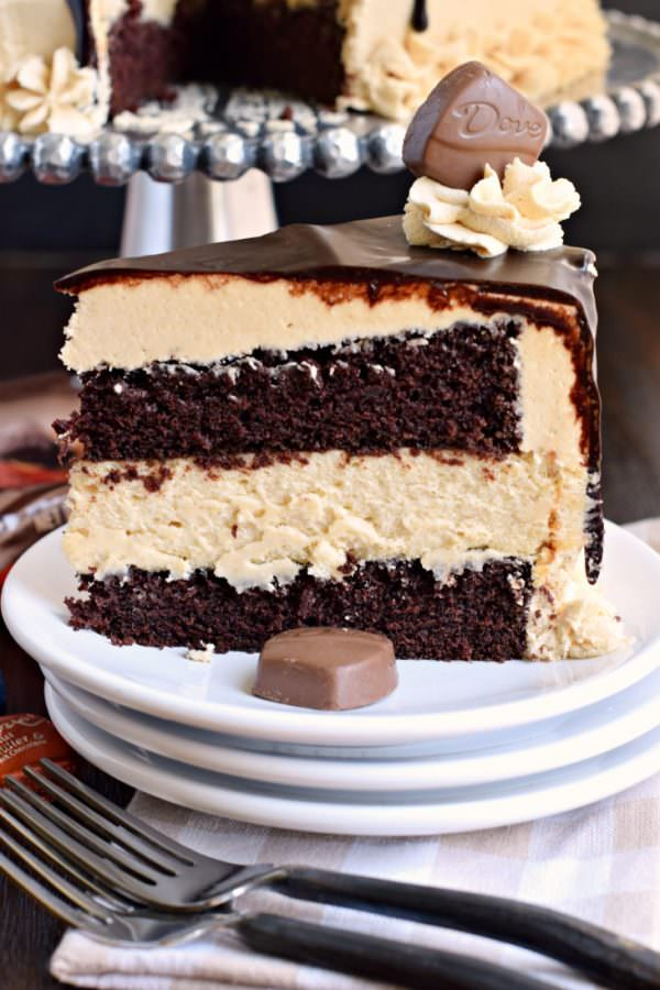 Chocolate Peanut Butter Cheesecake Cake with DOVE Chocolate | 25+ MORE Peanut butter and Chocolate desserts